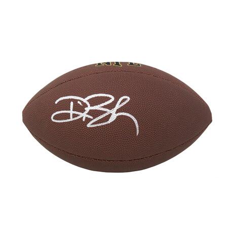 Deion Branch // Signed Wilson Super Grip Full Size NFL Football
