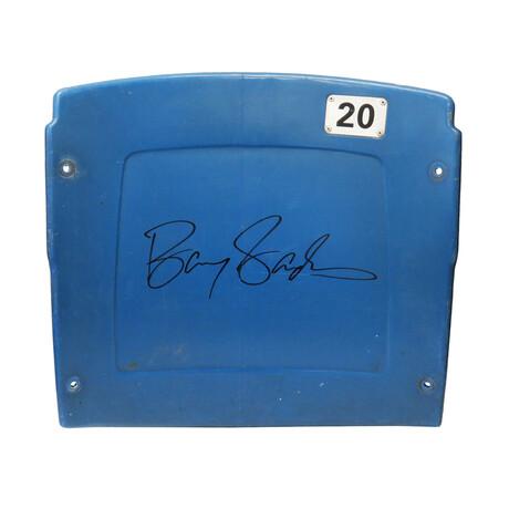 Barry Sanders // Signed Detroit Silverdome Dark Blue #20 Stadium Seatback