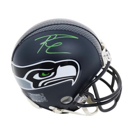 Russell Wilson // Signed Seattle Seahawks Riddell Mini Helmet // Wilson Hologram
