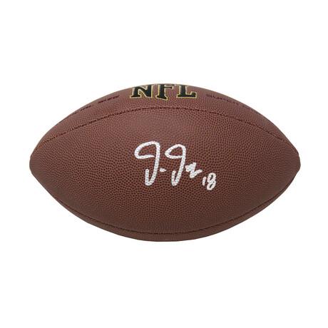 Justin Jefferson // Signed Wilson Super Grip Full Size NFL Football