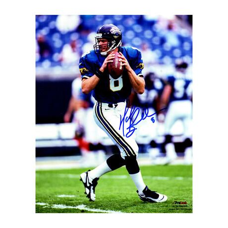 Mark Brunell // Signed Jacksonville Jaguars Drop Back Action Photo // 8x10