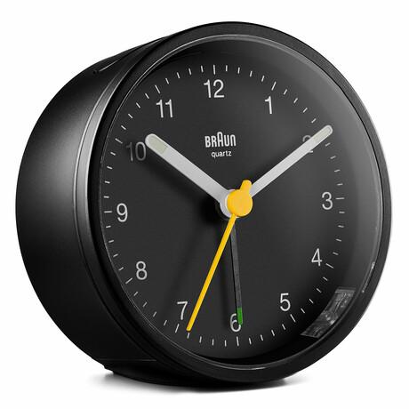 Round Classic Analog Alarm Clock (Black)