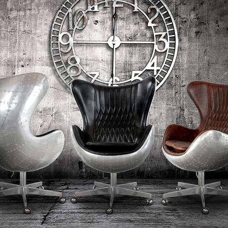 Aviator Egg Office Chair // Swivel + Casters