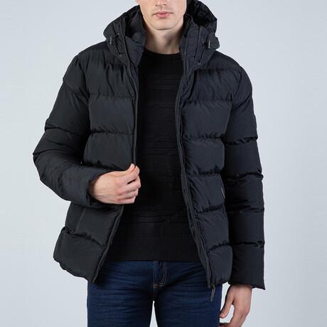 Carson Hooded Puffer Coat // Black (S)