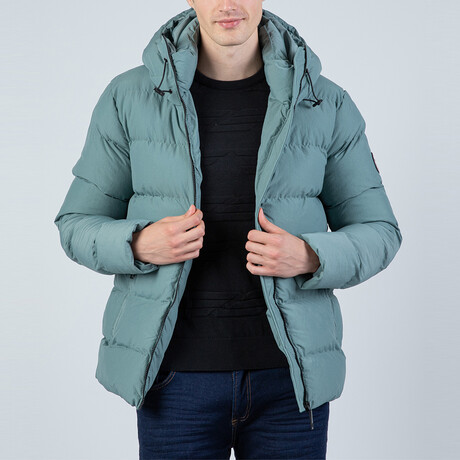 Albert Hooded Puffer Coat // Mint (S)