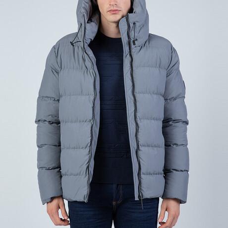 Hooded Puffer Coat // Gray (S)
