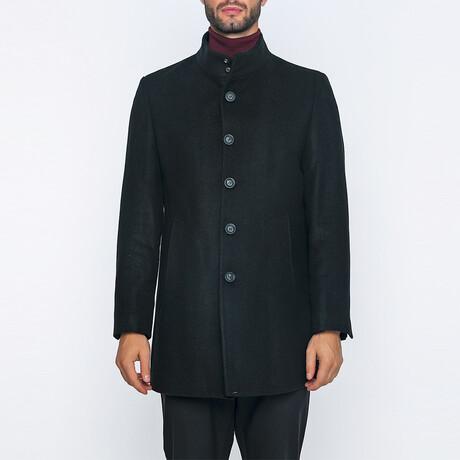 Jerimiah High-Neck Long Winter Coat // Black (S)