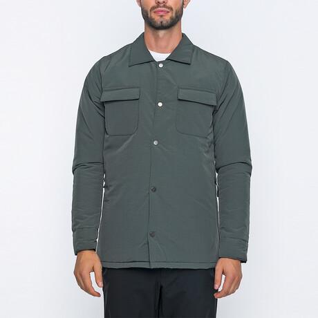 Louie Bomber Coat // Green (S)