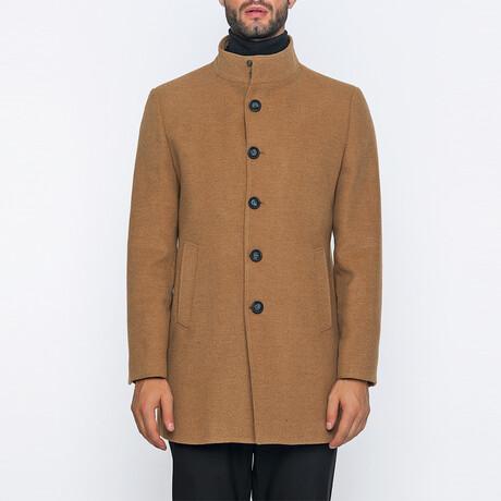 Jordan High-Neck Long Winter Coat // Camel (S)