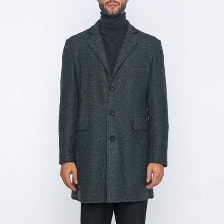 Timothy 3-Button Winter Coat // Anthracite (S)
