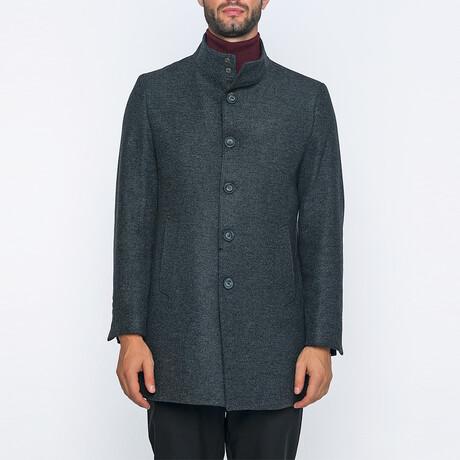 Jackson High-Neck Long Winter Coat // Dark Anthracite (S)