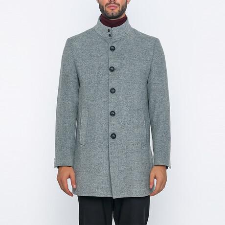 Joshua High-Neck Long Winter Coat // Gray (S)