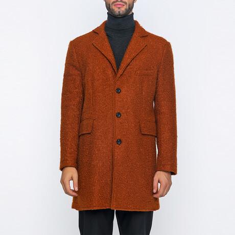 Theodore 3-Button Winter Coat // Brick (S)