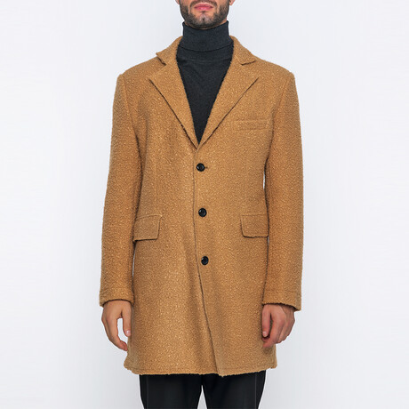 Tanner 3-Button Winter Coat // Camel (S)