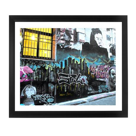 BRICKWALL GRAFFITI (Black Frame)