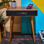 Classic Bluetooth Speaker Table + Built in Wireless Charging // Black