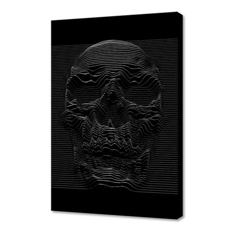 """Unknown Pleasures: Skull (12""""H x 8""""W x 0.75""""D)"""