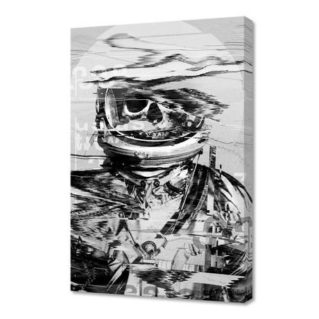 """Astronaut Skull Glitch (12""""H x 8""""W x 0.75""""D)"""