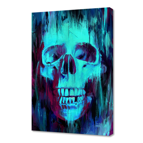 """Skull Painted (12""""H x 8""""W x 0.75""""D)"""