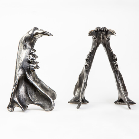 Tiger Jaw Bookends // Steel // Set of 2