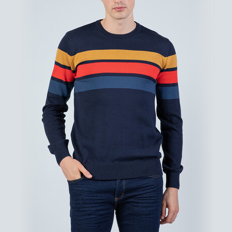 Julian Pullover Sweater // Navy + Indigo (S)