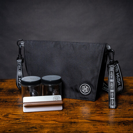 Cross Body Travel Bag // Black + Silver
