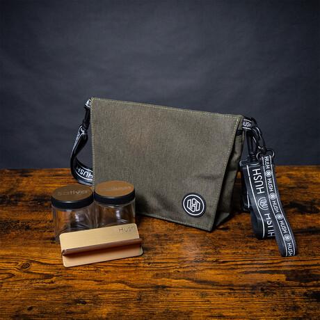 Cross Body Travel Bag // Army Green + Gold