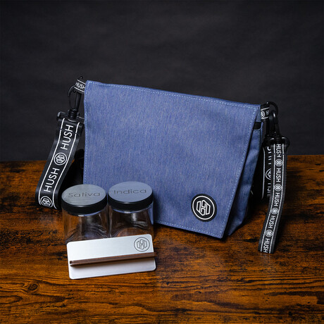 Cross Body Travel Bag // Blue + Silver