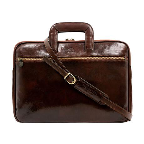 Brave New World // Leather Briefcase (Black)