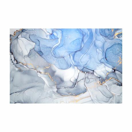 """Bubble Blue (16""""H x 24""""W x 1.8""""D)"""