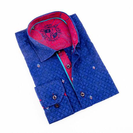 Lou Jacquard Shirt // Blue (S)