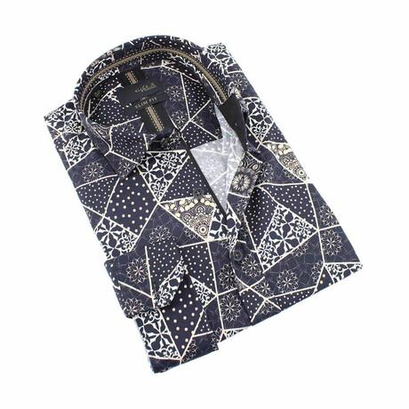 Fractured Print Shirt // Black (S)