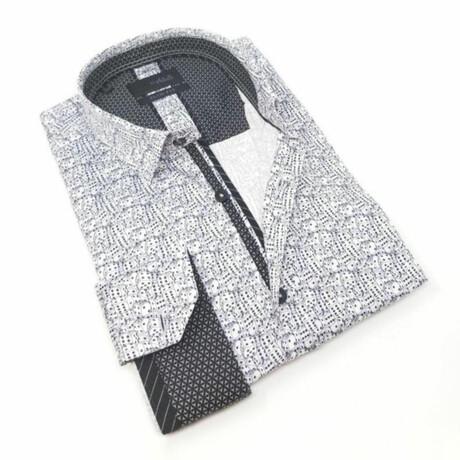 Lucky Dice Print Shirt // White (S)