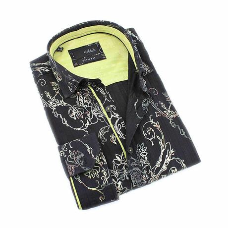 Julian Button-Down Shirt // Black (S)