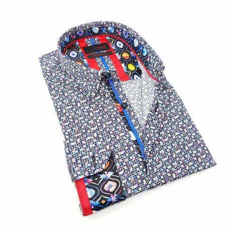 Patterned Digital Print Shirt // Multicolor (S)