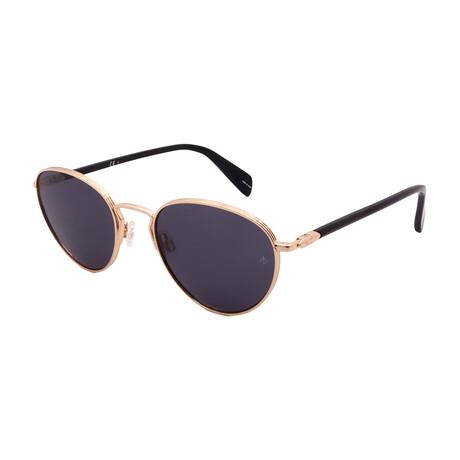 Unisex Round Sunglasses // Gold + Black + Gray