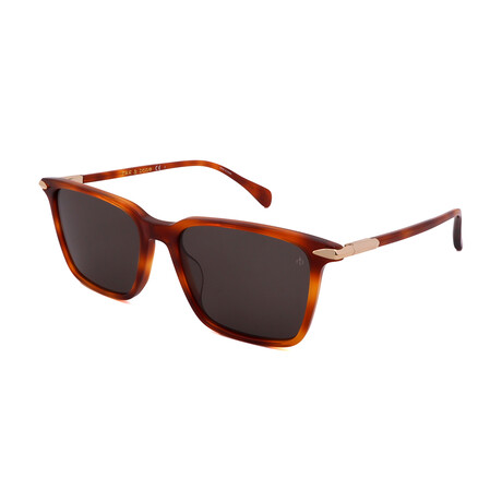 Men's Square Sunglasses // Havana + Gray