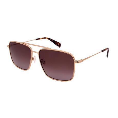 Men's Square Sunglasses // Gold + Tortoise + Brown