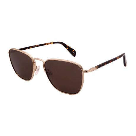 Unisex Square Polarized Sunglasses // Gold + Tortoise + Brown