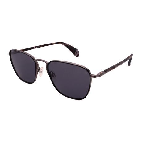 Unisex Square Polarized Sunglasses // Black + Dark Ruthenium + Clear Tortoise + Gray