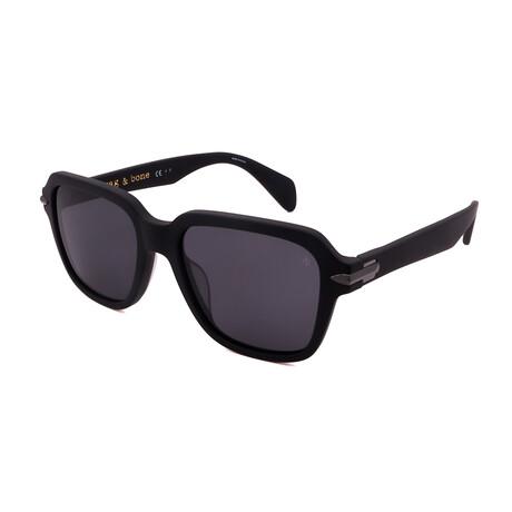 Unisex Square Polarized Sunglasses // Matte Black + Gray