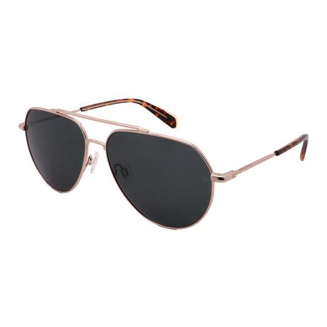 Unisex Aviator Sunglasses // Gold + Havana + Green