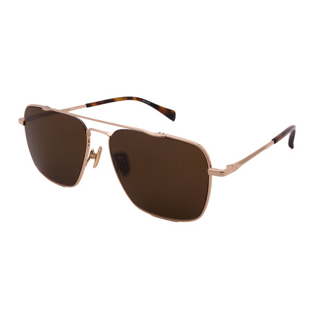 Unisex Square Sunglasses // Gold + Tortoise + Brown