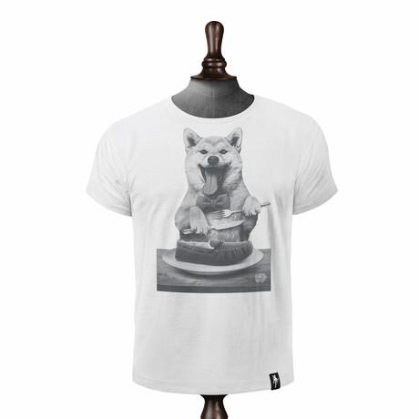 Dog's Dinner T-Shirt // Vintage White (XS)