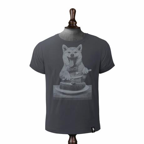 Dog's Dinner T-Shirt // Charcoal (XS)