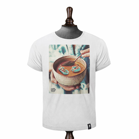 Soup of the Day T-Shirt // Vintage White (XS)