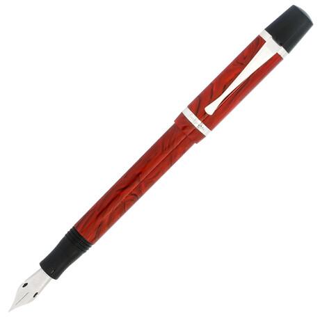 Montegrappa Nazionale Flex // Resin + Sterling Silver Fountain Pen W/ Fine Nib // ISNVN2CI // Store Display
