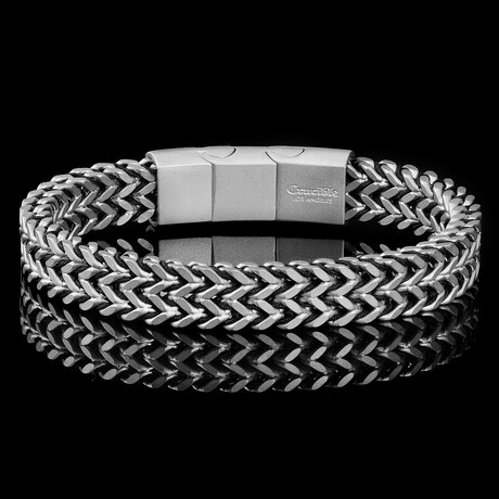 Stainless Steel Double Franco Row Chain Bracelet // 10mm
