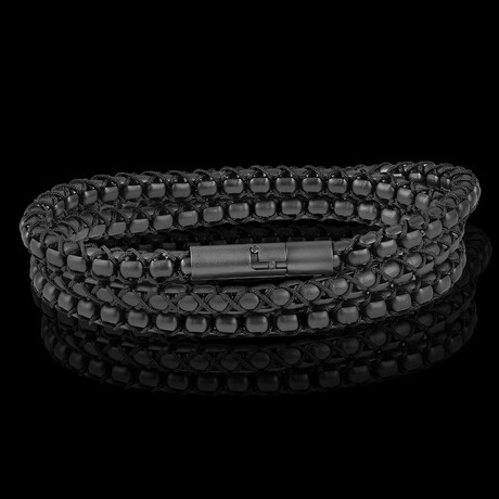 Matte Finish Stainless Steel Box + Nylon Chain Necklace // 6mm