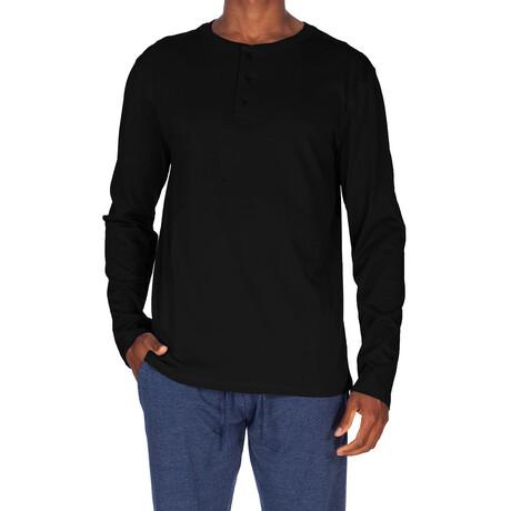 Super Soft Long Sleeve Henley // Black (S)